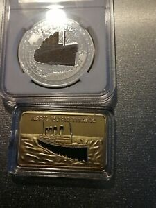 House clearance  titanic coin and bar