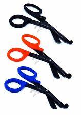3 (BLACK ORANGE BLUE) Fluoride Black Coated Trauma Paramedic EMT Shears Scissors
