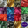 Metallic Shiny Gold Silver Lame Fabric 14 Colours - 150cm Sold Per Metre SECONDS