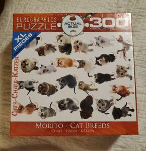 Eurographics Morito Cat Breeds 300 Piece Jigsaw Puzzle New Sealed