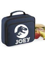 Boys Girls dinosaur Lunch Bag Box School Dinners personalised gift jurassic kids
