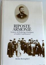 RIPOSTE ARMONIE LETTERE DI FEDERIGO ENRIQUES A GIULIO CASTELNUOVO BORINGHIERI