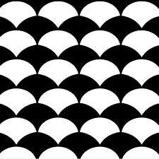"Stencil Design ""Fish scale""  - Craft Template - By Cutting Edge Stencils"