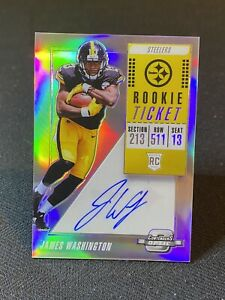2018 Panini Contenders Optic James Washington  RC On Card Auto ~Steelers