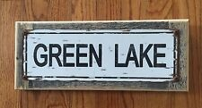 Green Lake Wisconsin Walleye Trout Vintage Metal Poster Sign Home Cabin Decor