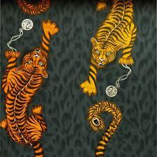 EMMA J SHIPLEY ANIMALIA TIGRIS WALLPAPER FLAME W0105/01 TIGERS YELLOW ORANGE