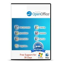 OPENOFFICE 2018 For Microsoft Windows Word Processor Graphics Draw 10 8 7 Vista.