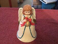 Homco Christmas Girl Angel Bell #5105
