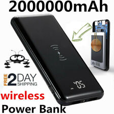 2020 Power Bank 2000000mAh Wireless Charger Portable Polymer External Battery