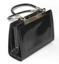 Handtasche Vintage 50erJahre? Lack schwarz - IPES-Creation