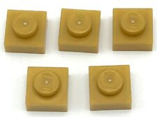 Lego 5 New Pearl Gold Plates 1 x 1 Dot Pieces
