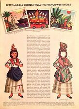 Betsy McCall Mag. Paper Doll,Betsy Writes from the French West Indies, Feb. 1973
