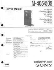 Sony  Original Service Manual für M- 405 / 505
