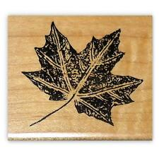 MAPLE LEAF Mounted rubber stamp, Autumn #1