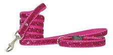 rose cerise brillant petit collier pour chien chiot et Câble 20.3-30. 5 cm 1.3cm
