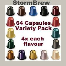 64 NESPRESSO CAPSULES Variety, Selection, Starter Pack 4x Each Coffee Blend Pods