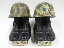 2x jim Beam Whiskey Bottle-US Army vietnam decanter-en blanco para el whisky coleccionista