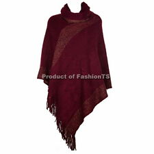 Soft High quality Knitted Warm Poncho Cape Wrap Shawl Jumper Sweater Outerwear