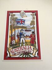 1980s Vintage postcard AUSTRALIA TWO CENTURIES OLD by N.S.W Collectors society