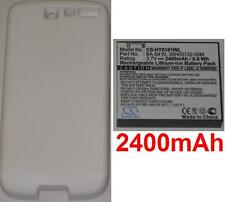 White Shell + Battery 2400 MAH Type BA-S410 BAS410 for HTC A8181