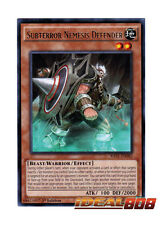 YUGIOH x 3 Subterror Nemesis Defender - RATE-EN082 - Rare - 1st Edition Near Min