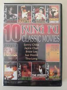 10 KUNG FU Classic Movies David J Action Martial Arts Bruce Lee Jackie Chan x 4