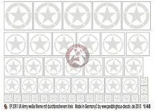 Peddinghaus 1/48 US Army Stars WWII (Invasion - Broken Circle) (White) 2091