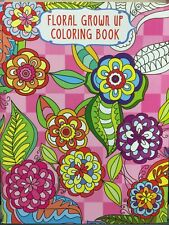 NEW - ADULT FLORAL COLOURING BOOK - DESIGN 1 - 24 PAGES