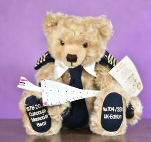 Hermann Concorde Memorial Bear Limited Edition Signed & Tagged