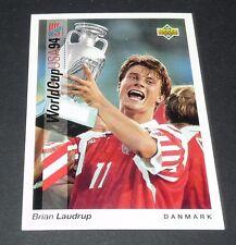 BRIAN LAUDRUP FIORENTINA DANMARK FOOTBALL CARD UPPER DECK USA 94 PANINI 1994