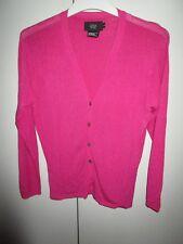 Ladies Saba Knitwear shiny fuchsia pink cardigan  Size 2