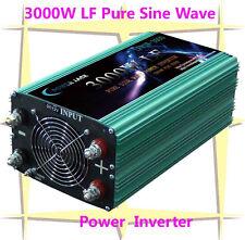 12000W Peak 3000W Low Frequency Pure Sine Wave Power Inverter 12V DC/110VAC 60Hz