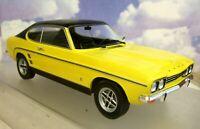 MCG MODEL CAR GROUP 1/18 DIECAST 1973 FORD CAPRI GXL MKI MK1 YELLOW/BLACK ROOF