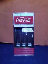 1996 Coca Cola Vintage Metal Retro Vending Machine Bank, works