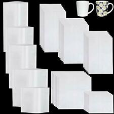 50 Pieces Sublimation Shrink Wrap Film Heat Shrink Wrap Bags White Shrink Wra