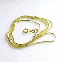 UOMO DONNA 14K placcato oro giallo SERPENTE Cubo Collana di corda 60cm lungo