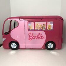 BARBIE SISTERS GO CAMPING Pop Up Pink Camper RV Van 2010 Mattel Vintage Rare