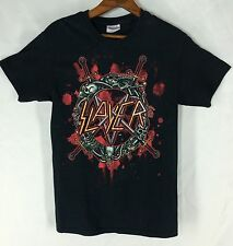 Slayer Thrash Heavy Metal Rock Band Black Cotton T Shirt Adult Size Small S