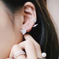 Bow Arrow Ear Stud Women's Simple Trendy Crystal Earrings Jewelry Gifts