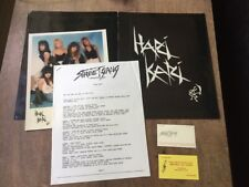 Rare KISS Hari Kari Press Kit Owned By Eric Carr w/ COA Biz Card 1988