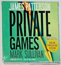Private: Private Games by James Patterson and Mark Sullivan (CD, Unabridge  NEW