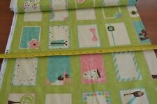 By 1/2 Yd, Quilt Labels on Green, Moda/Gervais/Name That Quilt/17630 13, B354