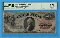 Fr. 18 1869 $1 Legal Tender Note PMG Fine 12 Rainbow Series