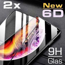 2x 6D Hartglas iPhone X iPhone Xs Displayschutzfolie 9H-Schutzpanzer Glasfolie