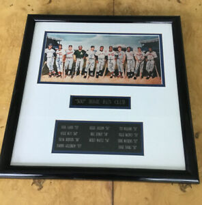 Beautiful 500 Home Run Club Signed With HR Totals Mickey Mantle