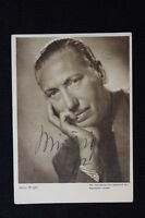 "Rare Signed Willy Birgel - Vintage Photo Postcard 1930's-40""s German Actor"