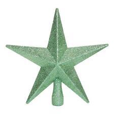Árbol De Navidad Topper Decoración 200mm Inastillable Con Purpurina Estrella