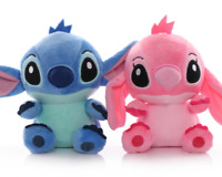 3 Styles Cute Cartoon Stitch Angel Soft Kids Lovely Plush Toys Stuffed Dolls