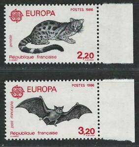 """FRANCE 1986 Very Fine Mint Never Hinged Stamps Set Scott # 2009-10 """" EUROPA """""""