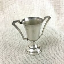 More details for vintage miniature trophy cup twin handled blank not engraved silver plated